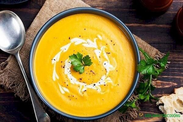món ăn chay ngon - súp bí đỏ